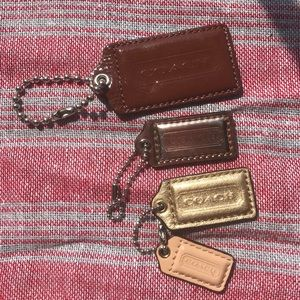 Coach Fobs Set of 4 Bag Tags Keychains